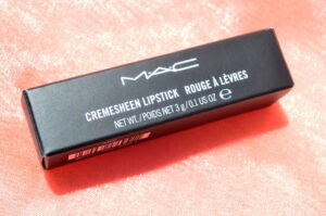 MAC Pink Pearl Pop Cremesheen Lipstick Review / Swatches 4