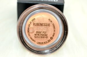MAC Pro Longwear Rubenesque Paint Pot Review / Swatches 3