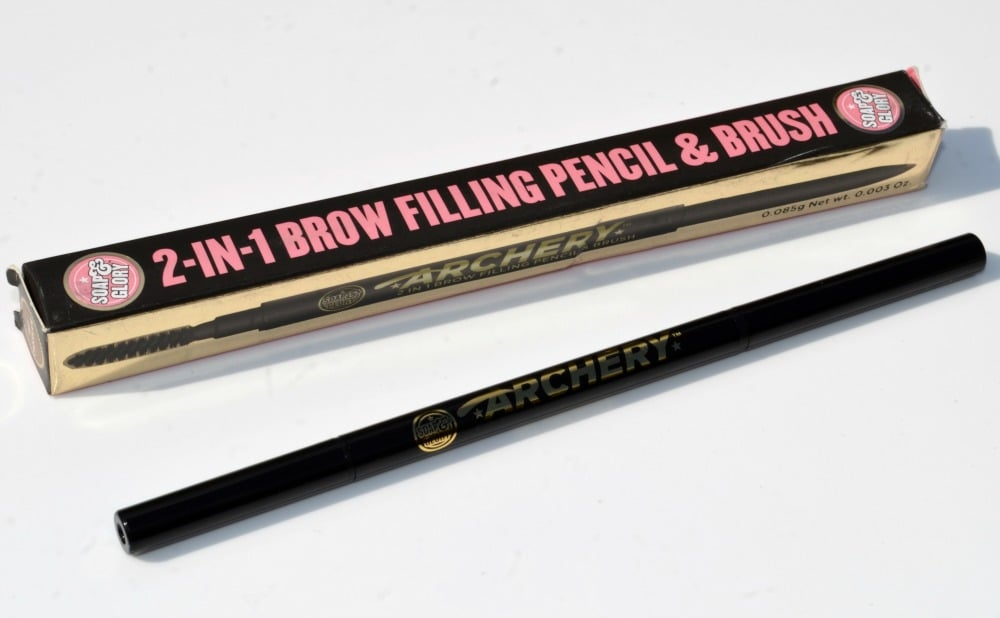 Soap & Glory Archery 2 in 1 Brow Filling Pencil & Brush Review / Swatches