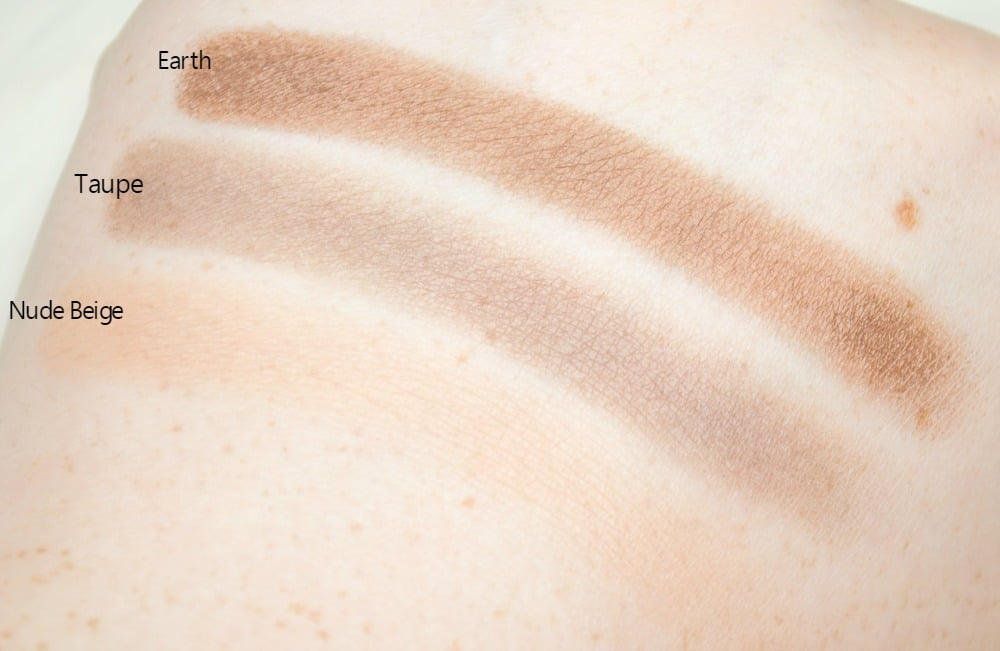 Swatches of Nude Beige, Taupe and Earth