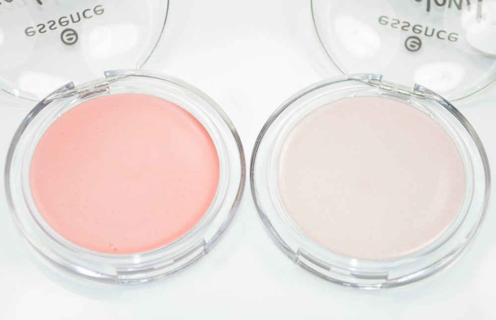 Image showing the inside of the clear, domed plastic compact of the cream blusher and highlighter