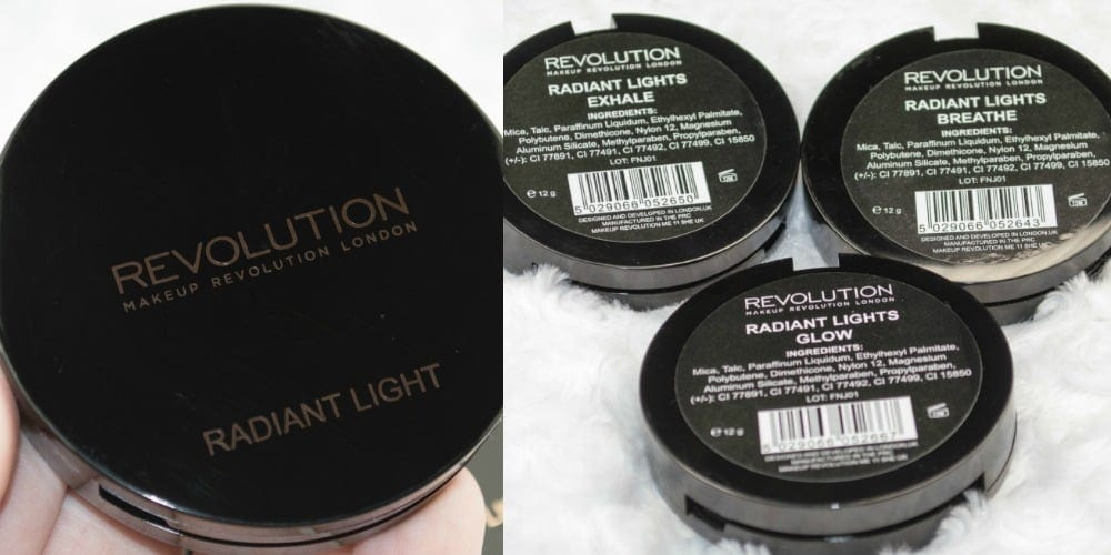 Makeup Revolution Radiant Light Illuminating Baked Powders Review / Swatches