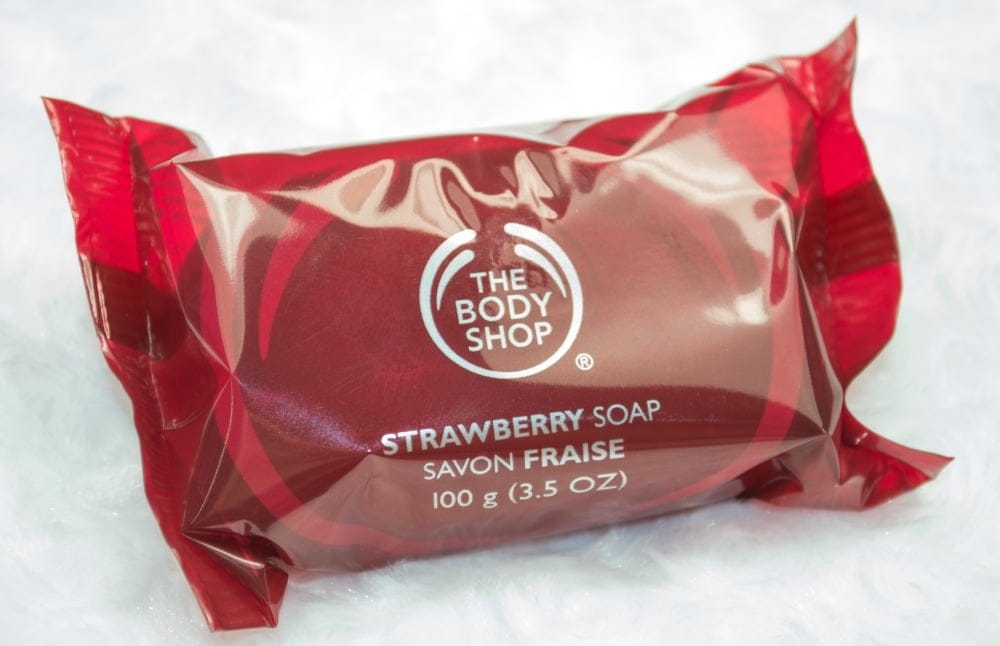 Image of the soap inside the plastic wrapper