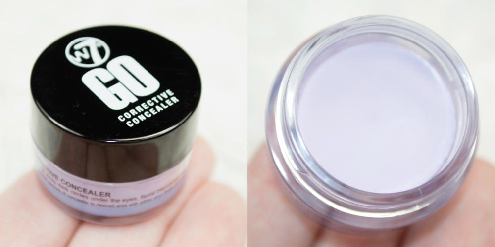 Close up of the purple lilac corrective concealer