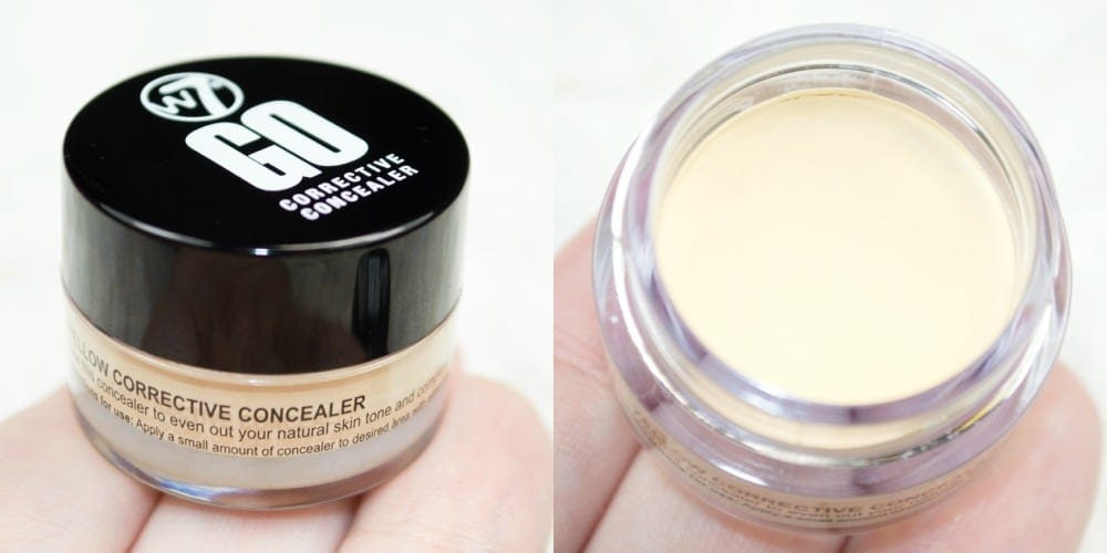 Close up of the yellow banana corrective concealer