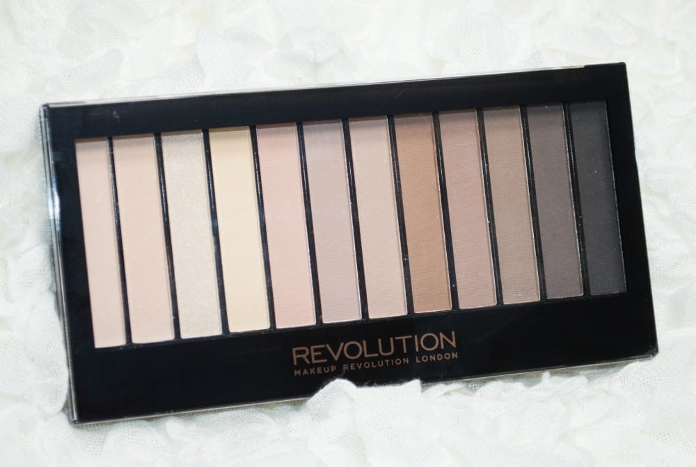 Image showing the palette closed, with twelve matte eyeshadows