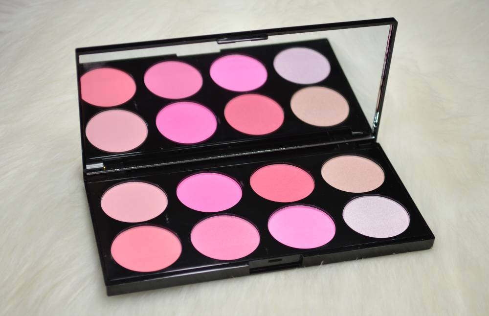 Makeup Revolution All About Pink Ultra Blush Palette Review Swatches