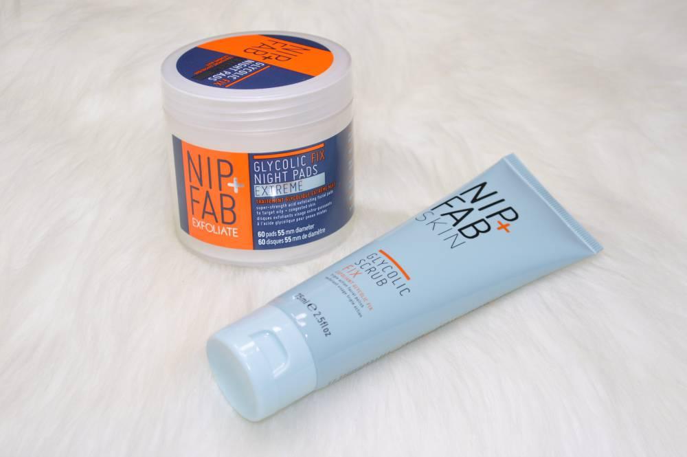 Nip and Fab Glycolic Fix Night Pads Extreme and Glycolic Scrub Fix