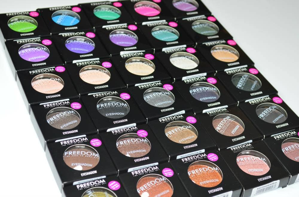 Freedom Mono Eyeshadow Collection Review and Swatches