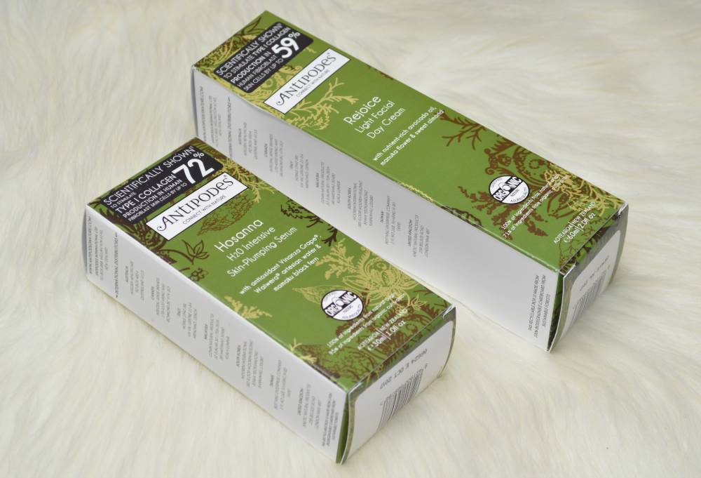 Antipodes Skincare - Skin Plumping Serum and Light Facial Day Cream