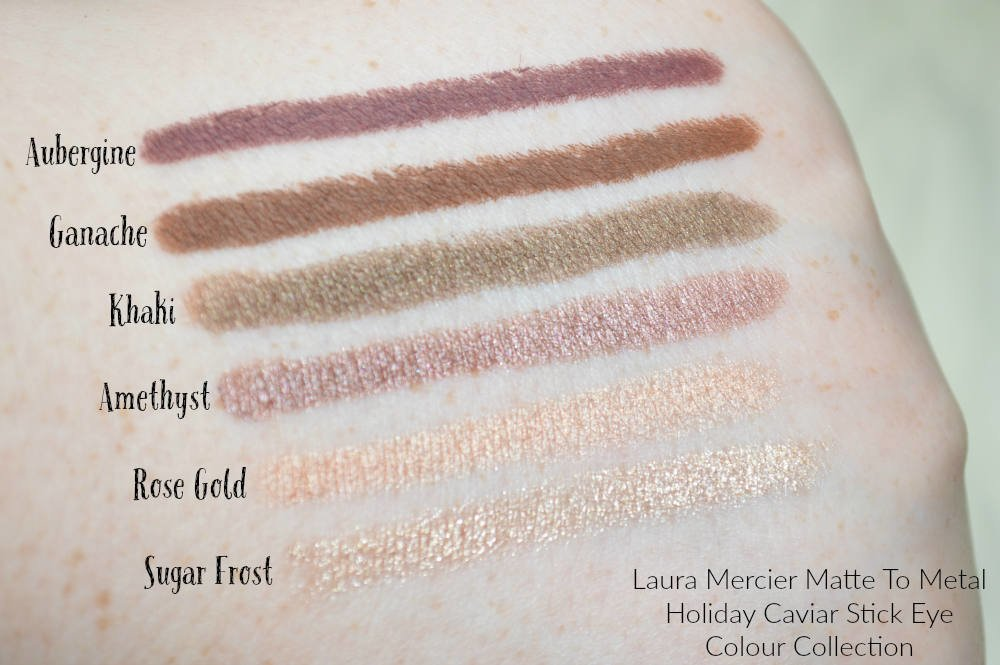 Laura Mercier Matte To Metal Holiday Caviar Stick Eye Colour Collection