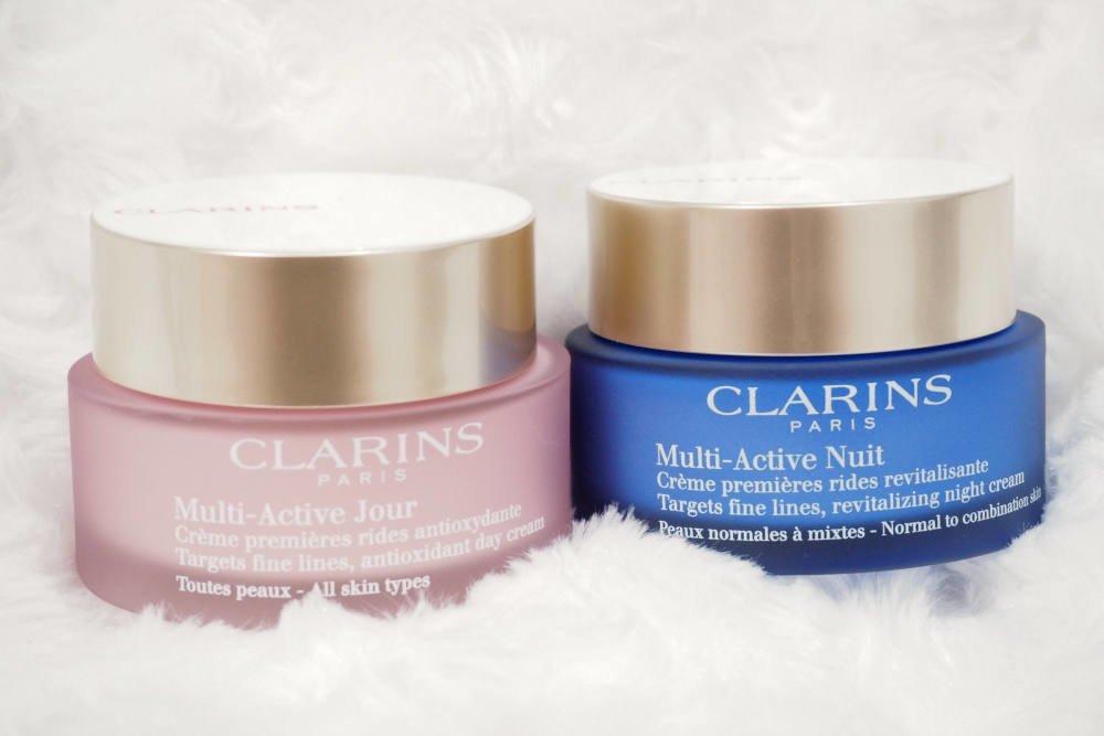 Clarins Multi-Active Jour and Multi-Active Nuit Moisturisers