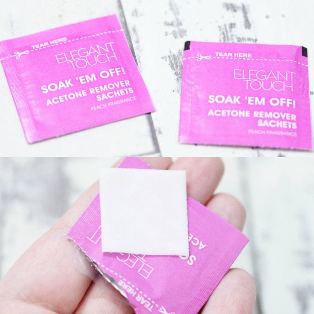 Elegant Touch Soak 'Em Off Acetone Remover Sachets