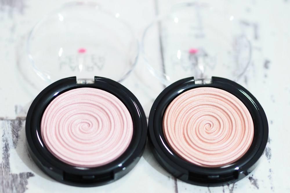 Laura Geller Peach Glow and Charming Pink Baked Gelato Swirl Illuminators