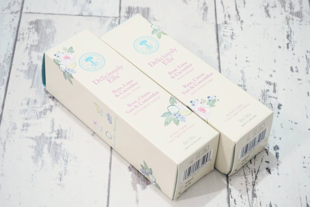 Neal's Yard Deliciously Ella Rose, Lime and Cucumber Facial Wash and Moisturiser