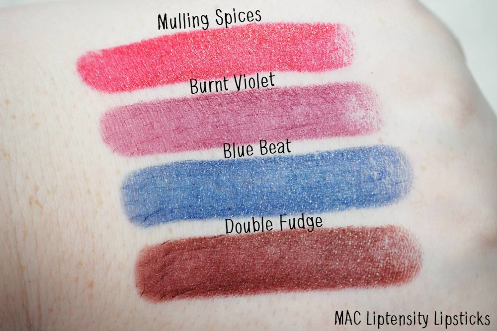 MAC Liptensity Lipsticks Review and Swatches