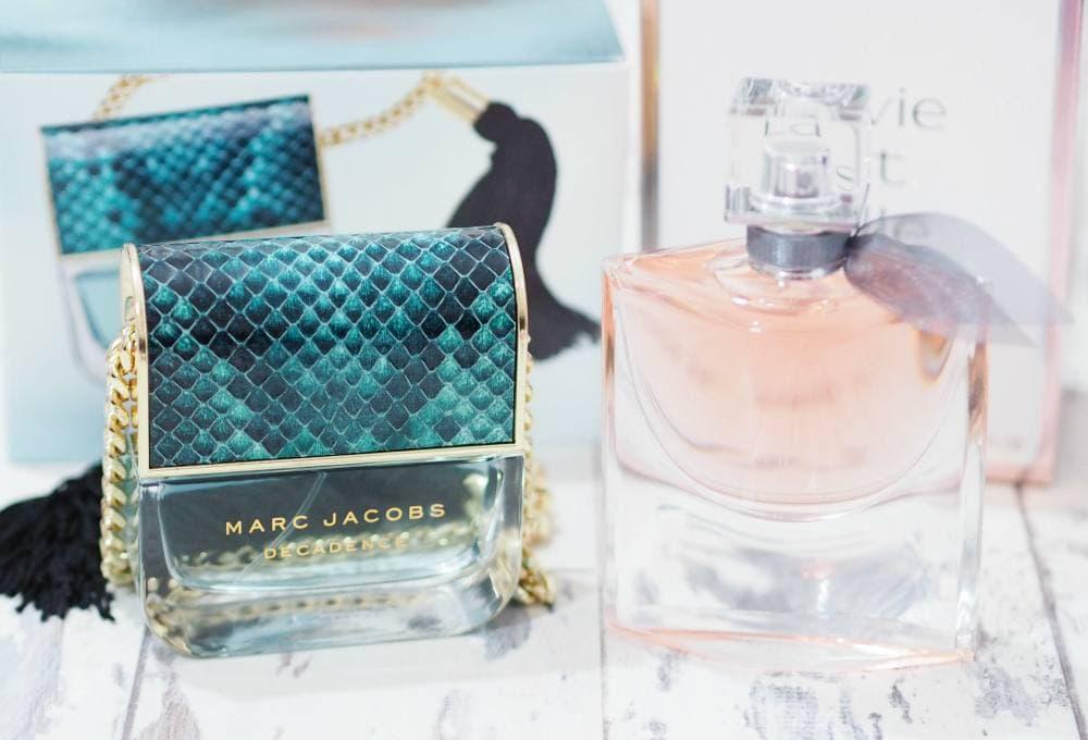 Marc Jacobs Divine Decadence and Lancome La Vie Est Belle Fragrances