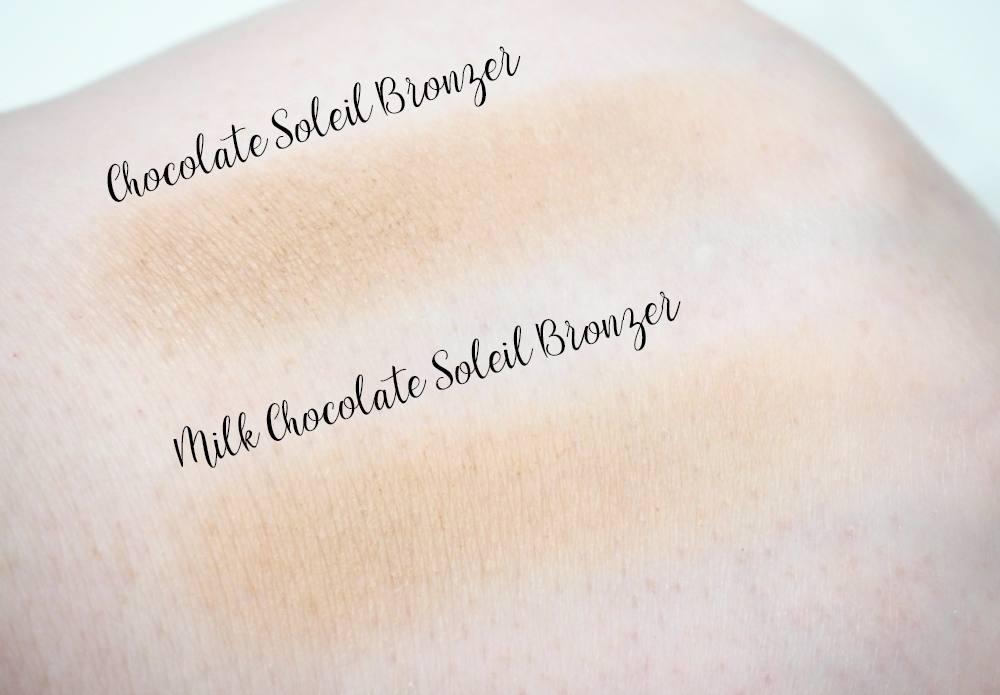 Too Faced Milk Chocolate Soleil Bronzer Vs. Chocolate Soleil Bronzer