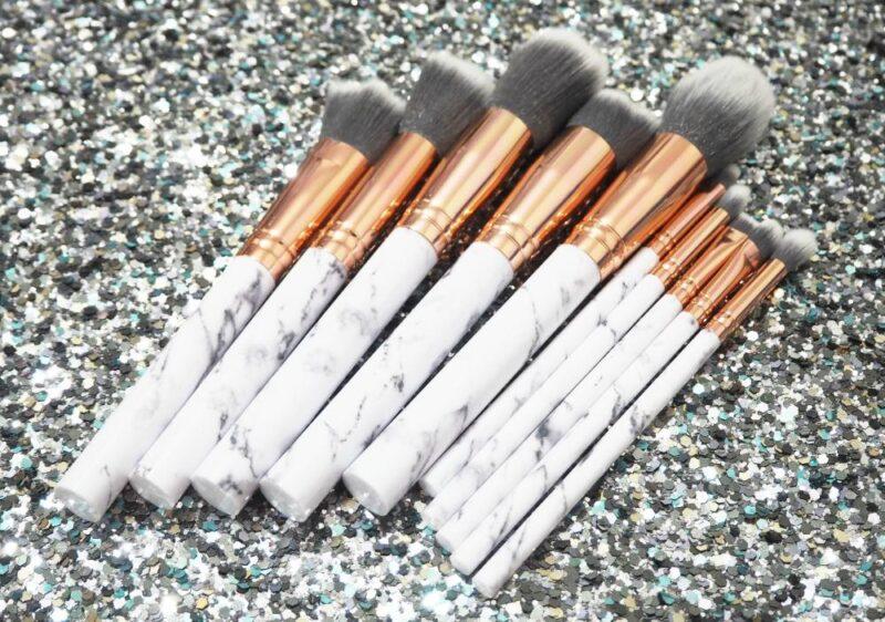 £6 AliExpress 10 Piece Marble Makeup Brush Set