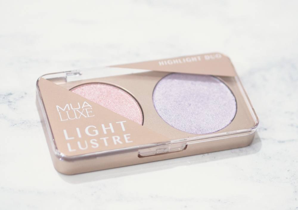 MUA Luxe Light Lustre Highlighter Duo
