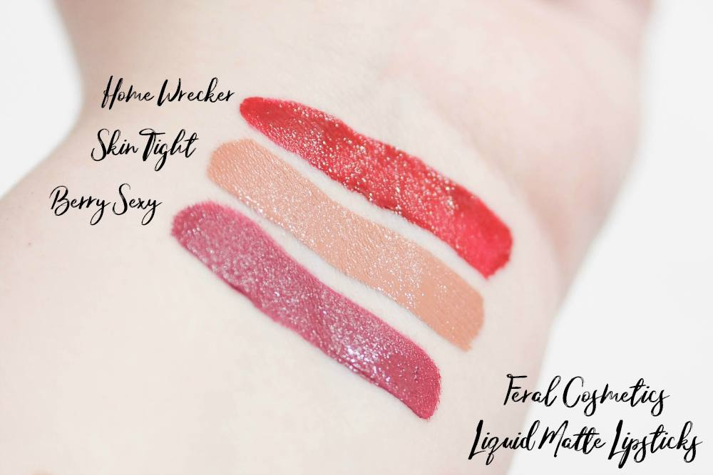 Feral Cosmetics Liquid Matte Lipsticks Review and Swatches