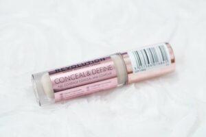 Makeup Revolution Conceal and Define Concealer PLUS Pale Skin Concealer Swatch Comparison