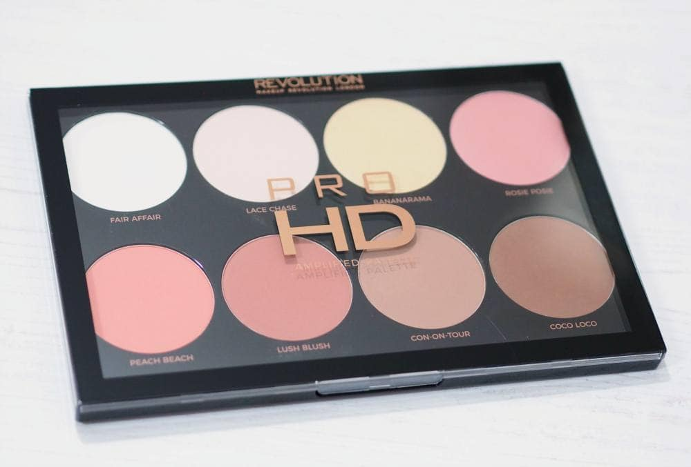 Makeup Revolution Mega Matte Pro HD Amplified Palette Review and Swatches - Palette of eight matte face powders, blushes, bronzers contour