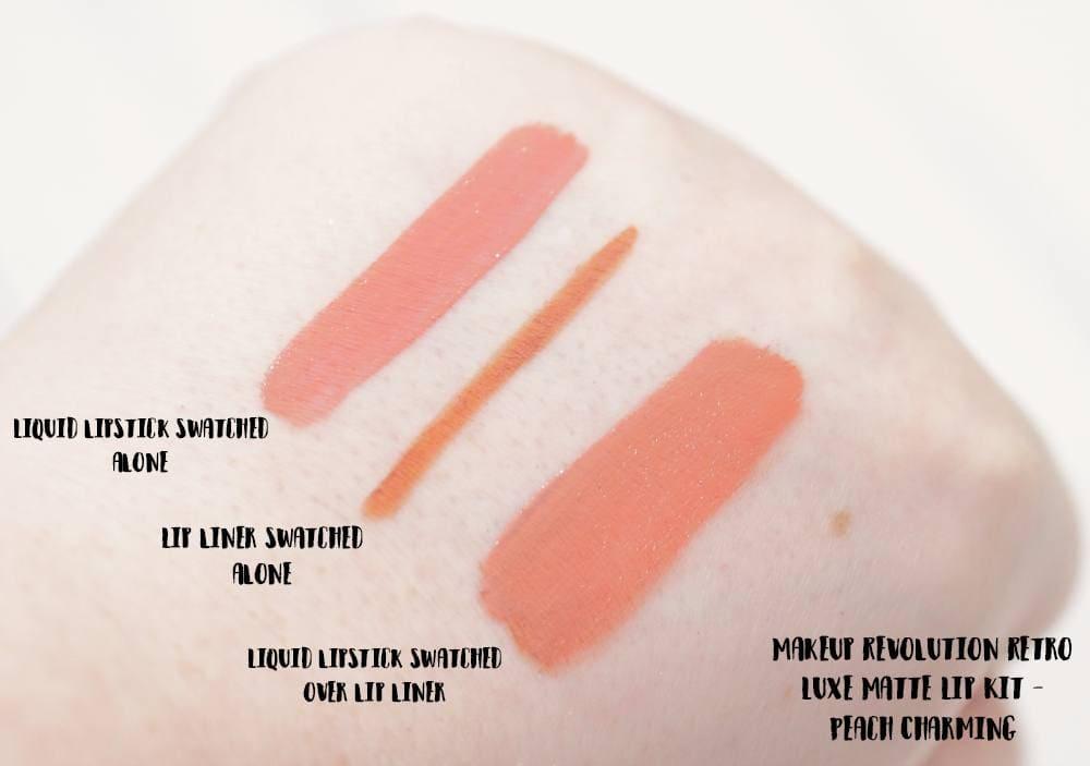 Makeup Revolution Peach Charming Retro Luxe Matte Lip Kit | #MakeupRevolutionWeek