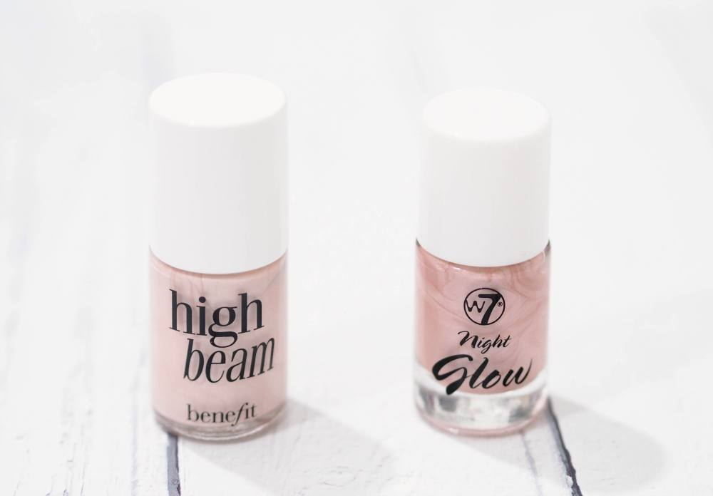 Technic Night Glow Vs. Benefit High Beam Liquid Highlighters - Dupe Wars!