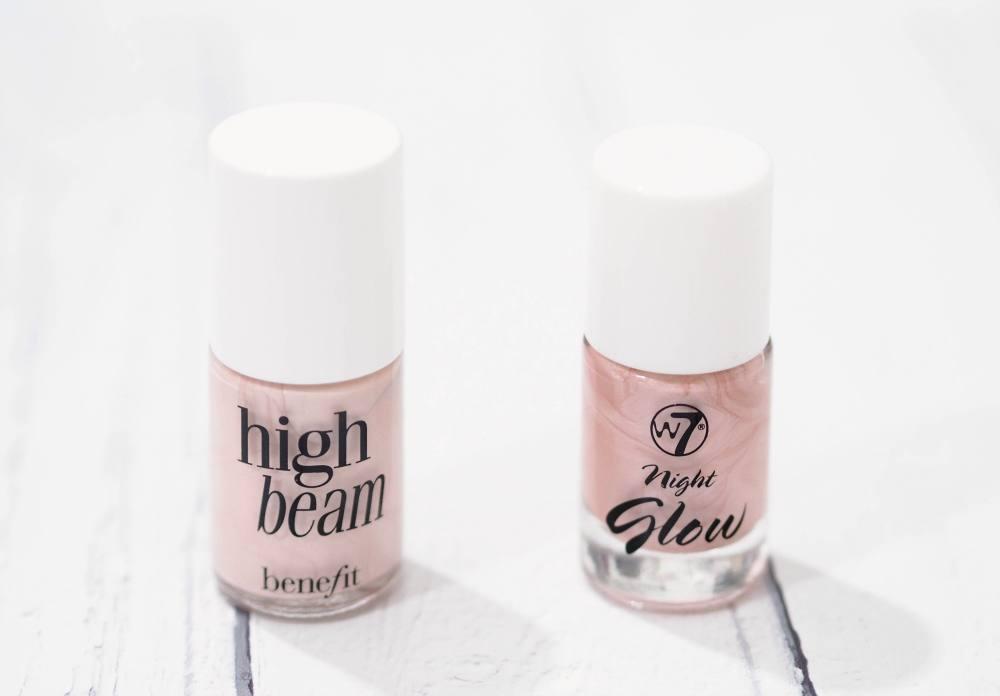 W7 Night Glow Vs. Benefit High Beam Liquid Highlighters – Dupe Wars!