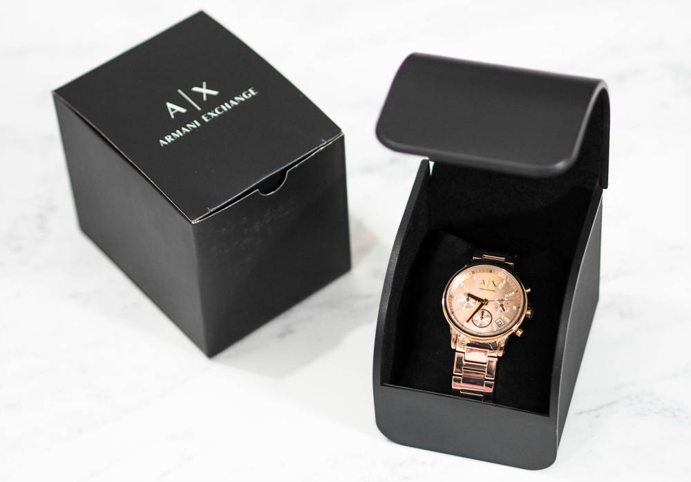 Armani Exchange Rose Gold Chronograph Watch