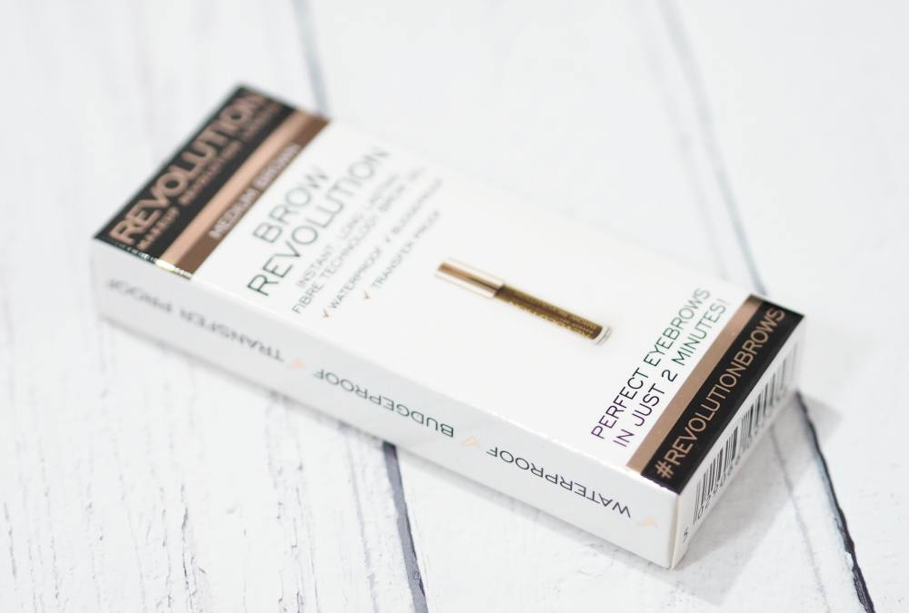 Makeup Revolution Brow Revolution - Medium Brown Brow Revolution Longlasting Brow Gel Review and Swatches