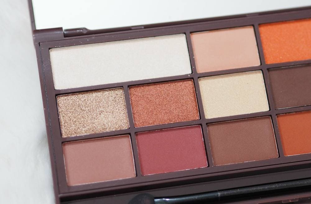 Makeup Revolution Chocolate Orange Eyeshadow Palette - Review and Swatches of the I Heart Makeup Chocolate Orange Palette
