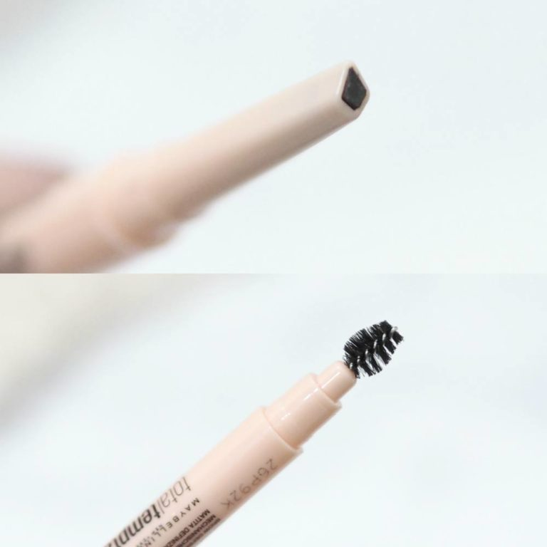 Maybelline Total Temptation Mascara and Brow Definers Review and Swatches of the shades Deep Brown and Medium Brown Brow Pencils