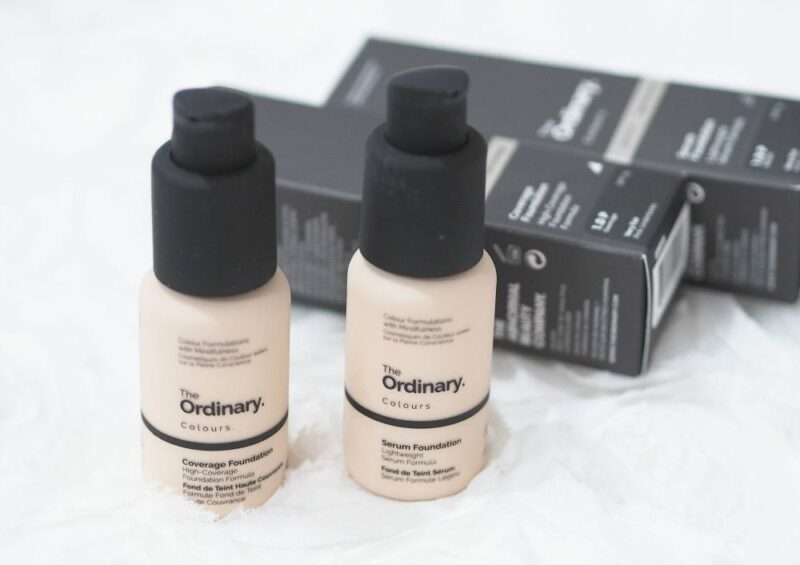 The Ordinary Coverage Foundation and Serum Foundation