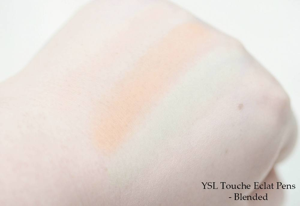 YSL Complexion Wardrobe Review and Swatches featuring Touche Eclat Neutralizer Pens, Blur Primer, Instant Moisture Glow, Souffle d'Eclat, Glow Shot