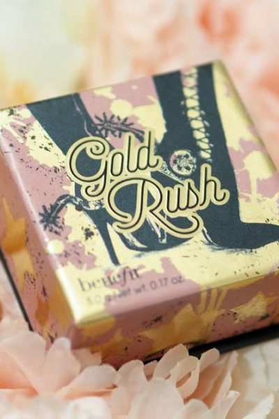 Benefit Gold Rush Blush Box 'O Powder Review and Swatch - a peachy golden luminous blush available at Cult Beauty