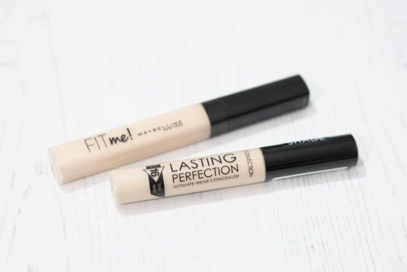 NEW Paler Shades of the Maybelline Fit Me Concealer and Collection Lasting Perfection Concealer – Comparison and Swatches