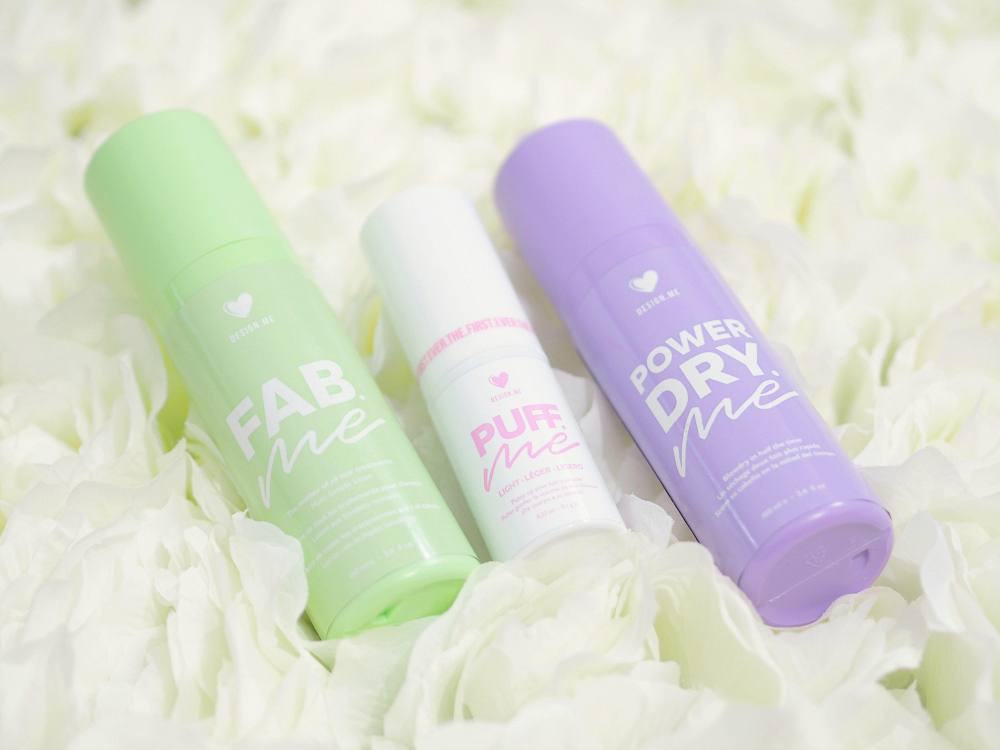 Design Me Haircare Fab Me, Puff Me and Power Dry Me