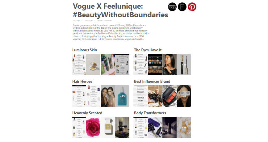 Vogue Beauty Awards Plus Feelunique #BeautywithoutBoundaries Giveaway
