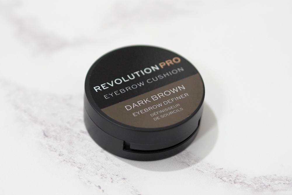 Makeup Revolution Pro Eyebrow Cushion Eyebrow Definer Review and Swatches in the shade Dark Brown
