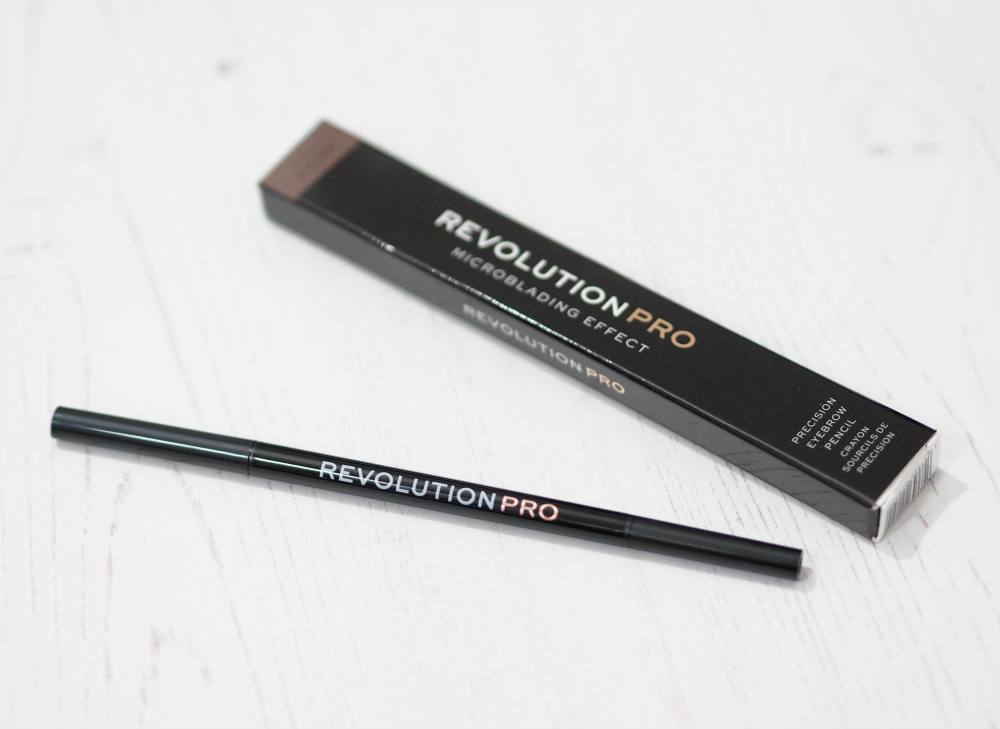 Makeup Revolution Pro Microblading Precision Brow Pencil in the shade Dark Brown with Swatches