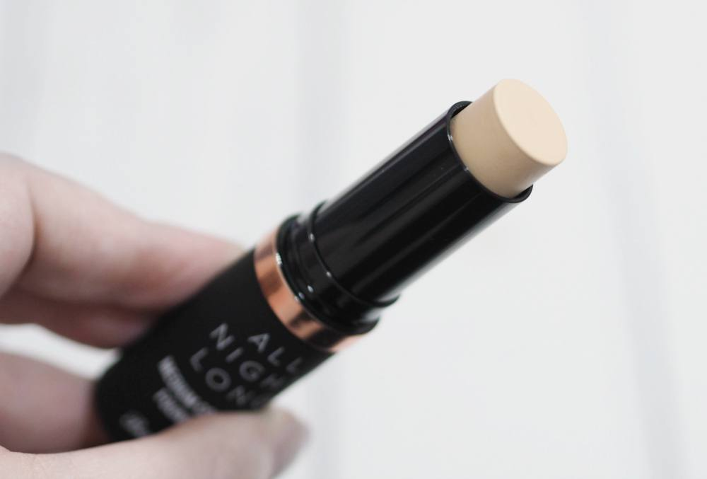 Barry M All Night Long Medium Coverage Foundation Stick Review and Swatches in the shade Milk with comparisons of the All Night Long Concealer