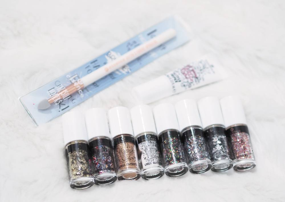 Essence Get Your Glitter On Loose Glitters and Pigments Collection and Glitter Glue Primer Review