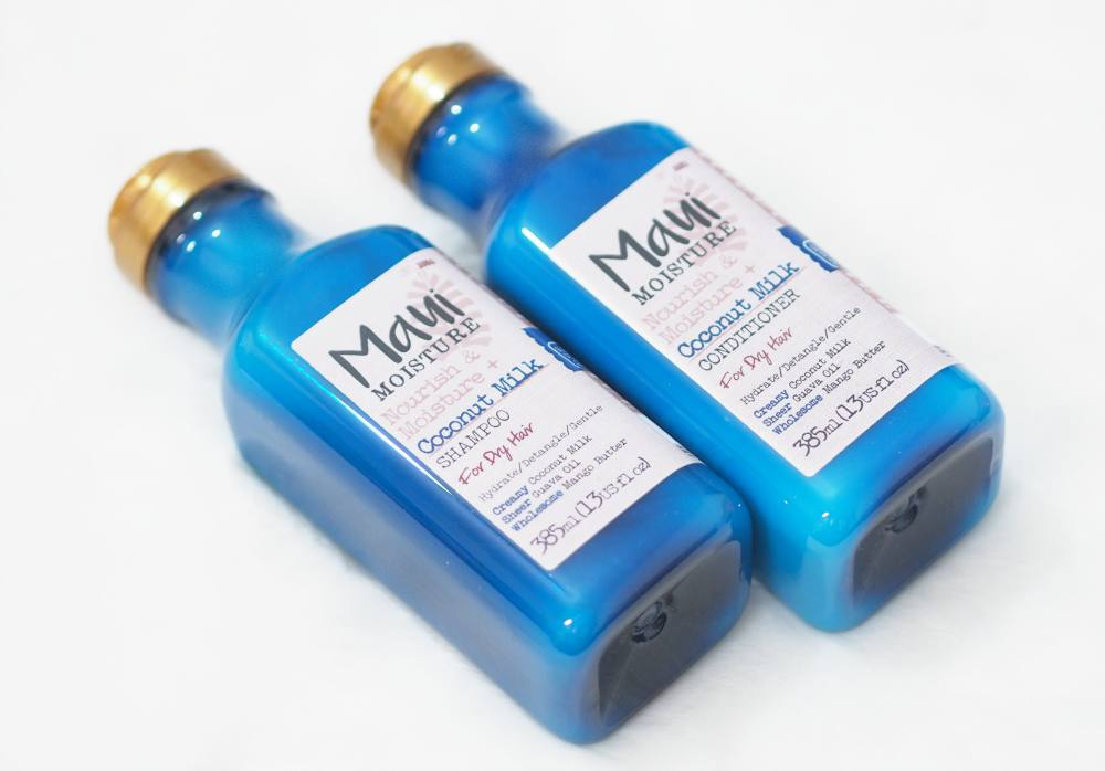 Maui Moisture Nourish and Moisture Coconut Milk Shampoo and Conditioner