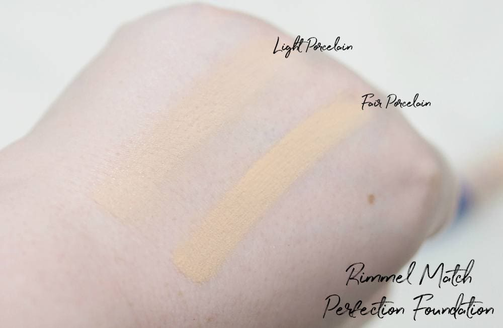 Rimmel Match Perfection Foundation and Concealer Review and Swatches of Light Porcelain and Fair Porcelain
