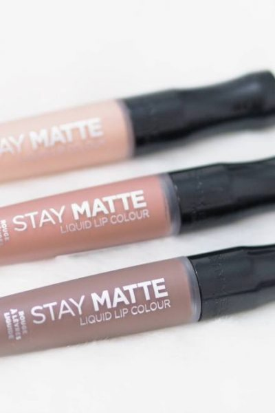 Rimmel Stay Matte Liquid Lip Colours Review and Swatches - Plunge, Stripped and Be My Baby