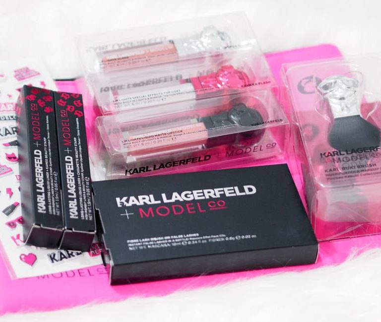 Karl Lagerfeld x ModelCo Collection Review and Swatches ft. Karl Buki Brush, Brush On Lashes, Lip Lights and more..