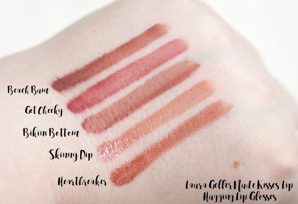 Laura Geller Nude Kisses, Color Luster Lipgloss and Iconic Baked Sculpting Lipstick Review and Swatches - GEMMA ETC