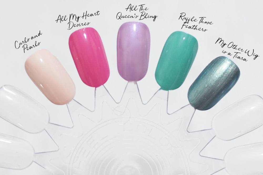 Morgan Taylor Royal Temptations Spring 2018 Nail Polish Collection ft. Ruffle Those Feathers, Curls and Pearls, All My Heart Desires, Gemma Etc.